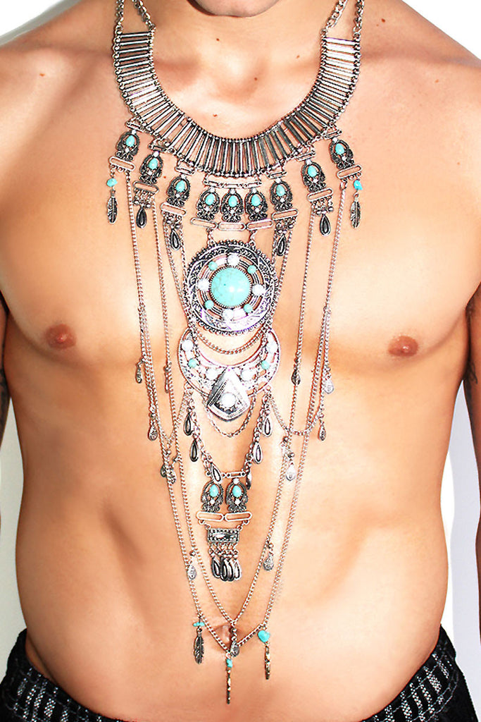 Southwestern Pectoral- Turquoise