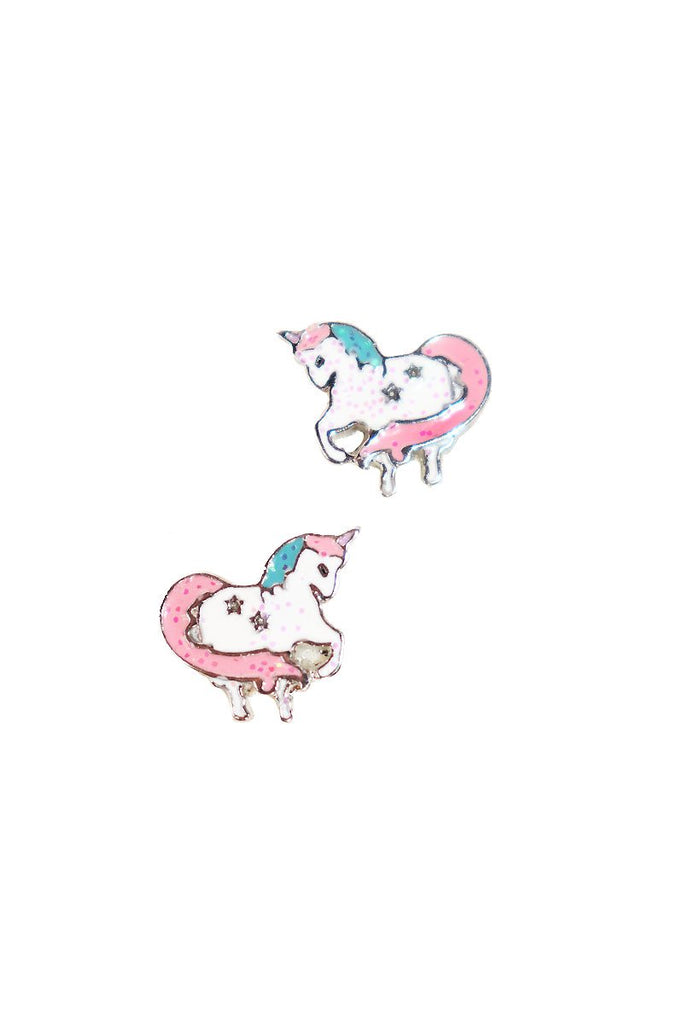 Unicorn Earrings-White