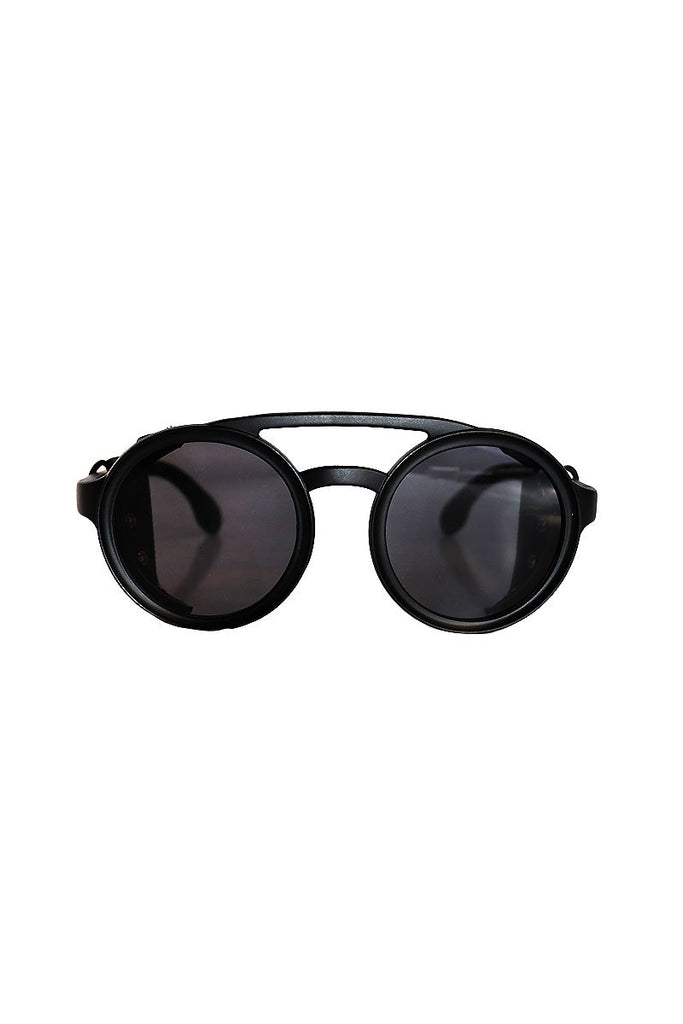 Roadster Vegan Leather Sunglasses-Black