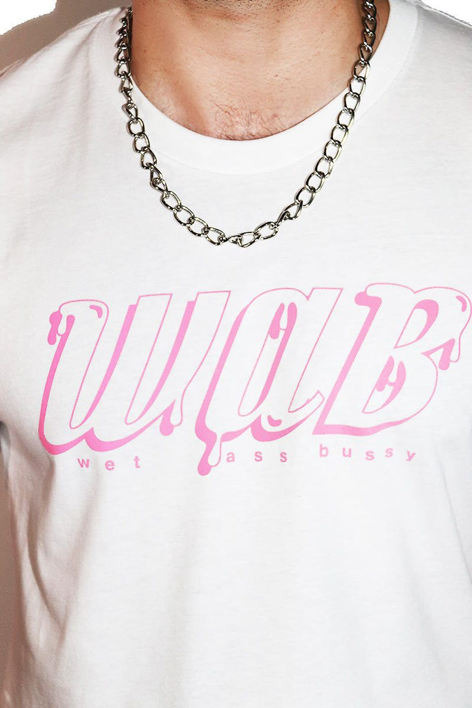 Wet Ass Bussy W.A.B. Crop Tee- White