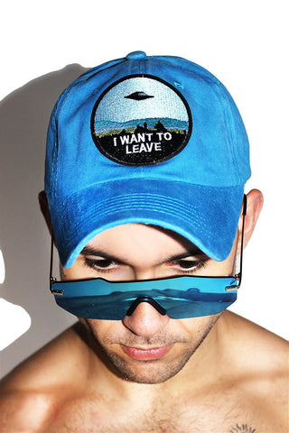 I Want To Leave Dad Hat-Blue