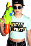 Water Sports Crop Tee- Seafoam