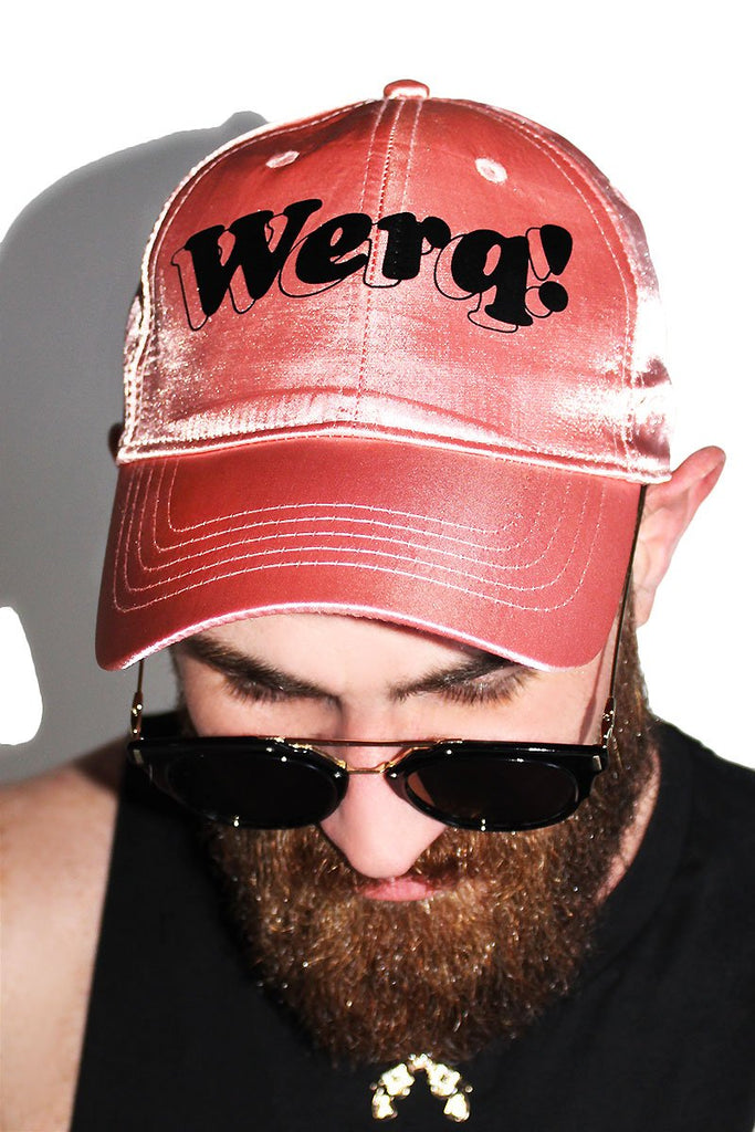 Werq! Silk Dad Hat-Rose