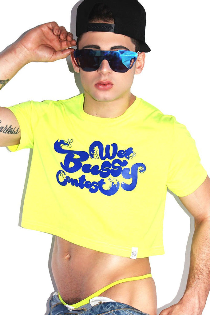 Wet Bussy Crop Tee- Neon Yellow