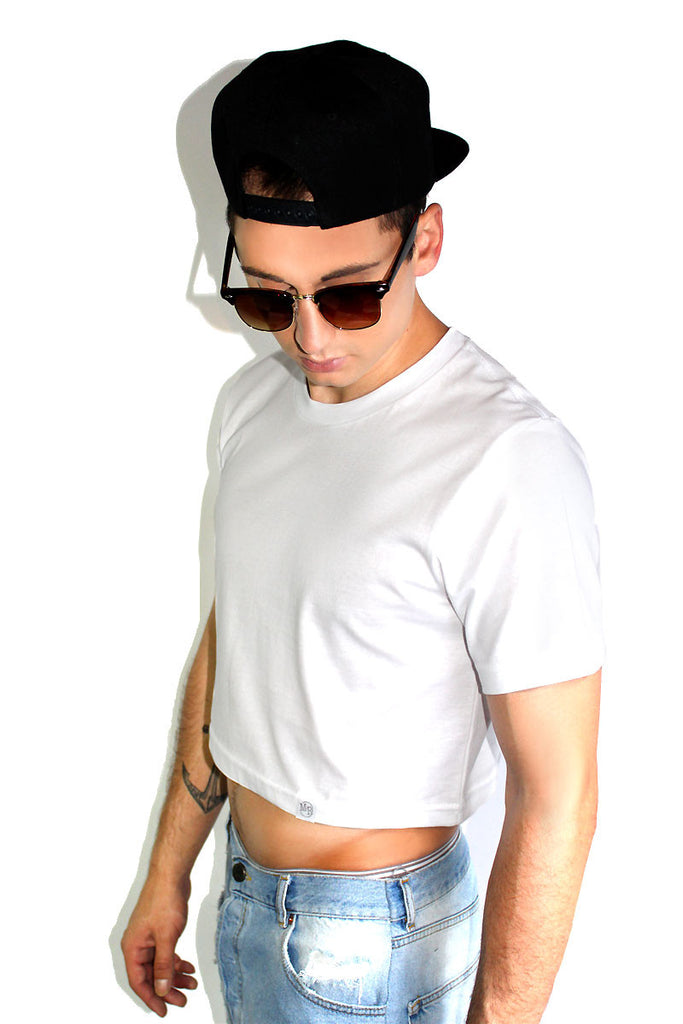 Core Crop Tee-White