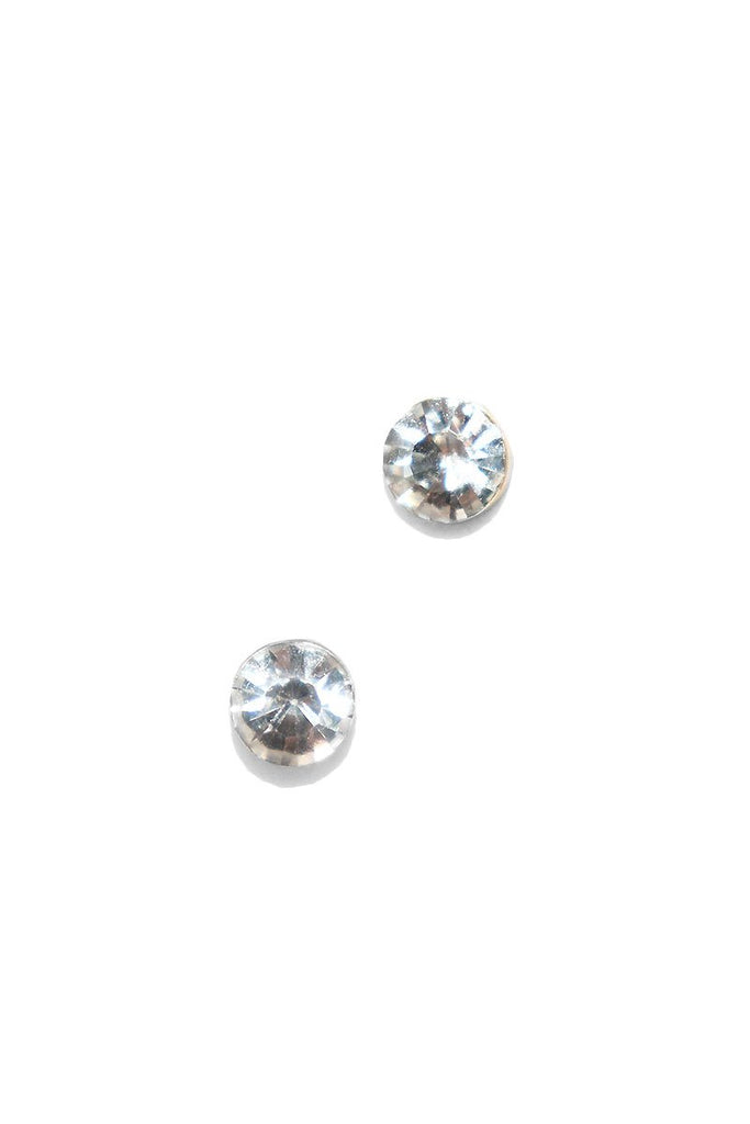 Crystal Stud Earrings-White