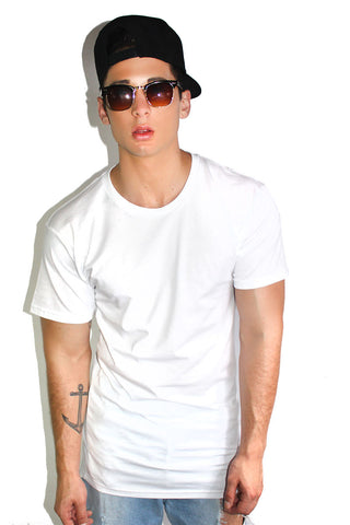 Core Long Tee-White