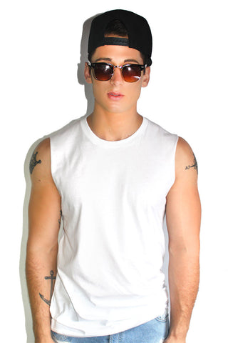 Core Sleeveless Tee-White
