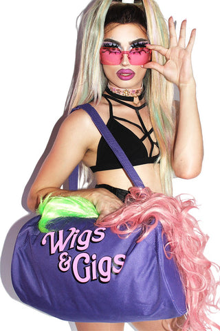 Wigs and Gigs Duffel Bag- Purple