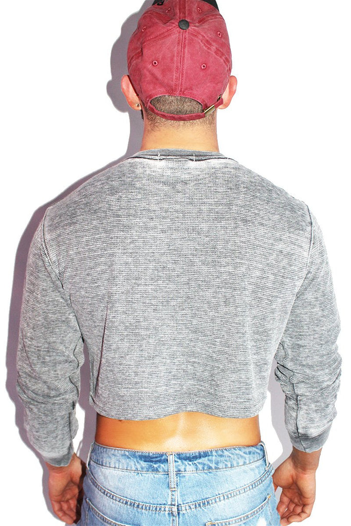 Winner Long Sleeve Crop Thermal- Grey