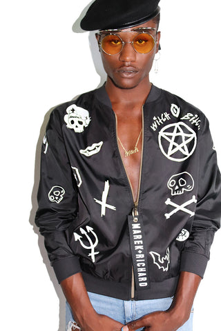 Witch Bitch Bomber Jacket-Black