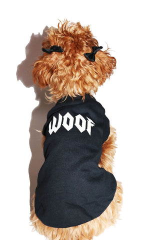 Woof Dog Tee- Black