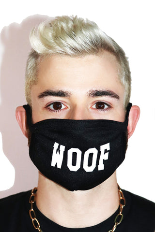 Woof Face Mask- Black