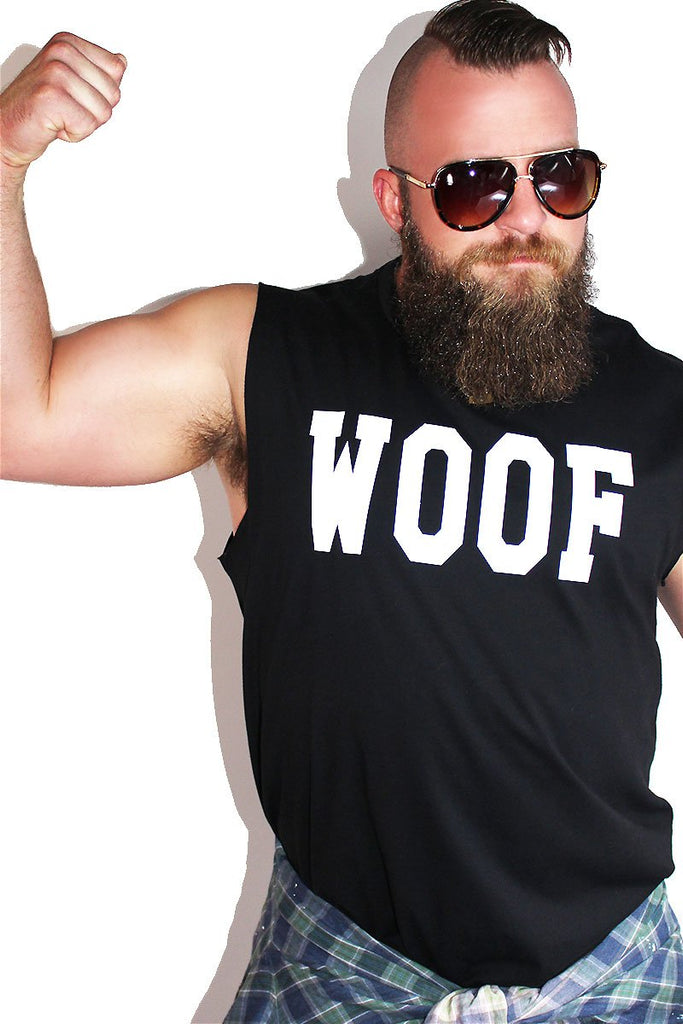 PLUS: Woof Sleeveless Tee- Black