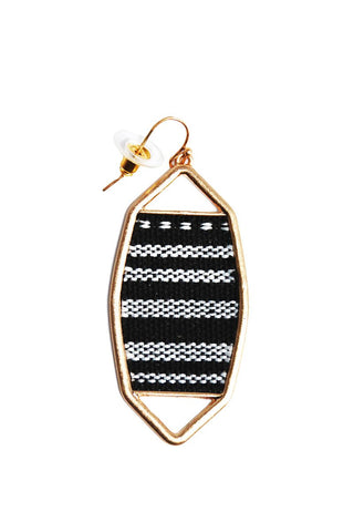 Woven Single Earring-Gold