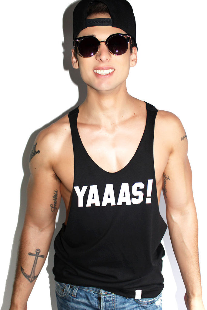 YAAAS! String Tank-Black
