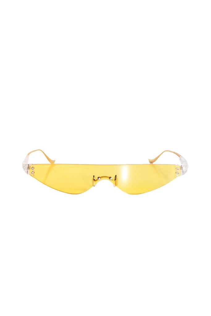 Golden Showers Half Eye Sunglasses-Yellow