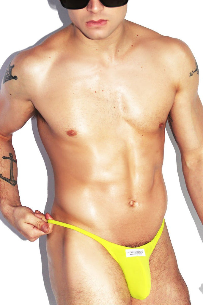 Santa Monica String Thong- Yellow