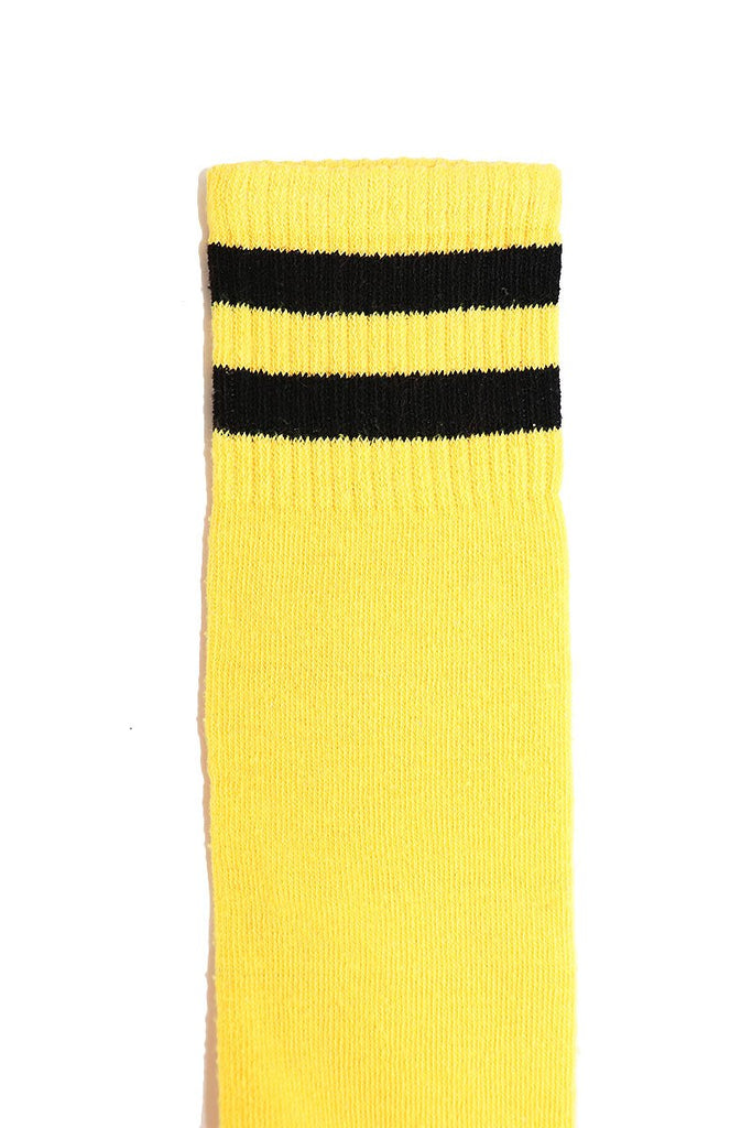 Stripe Mid-Calf Socks- Yellow