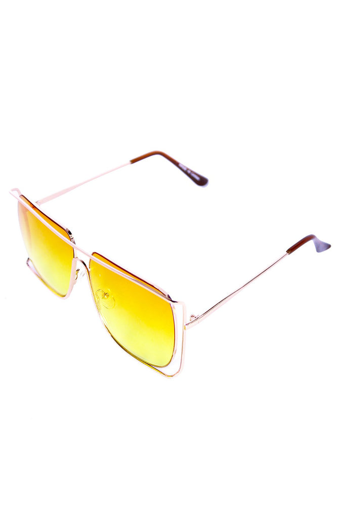 Square Ombre Sunglasses- Yellow