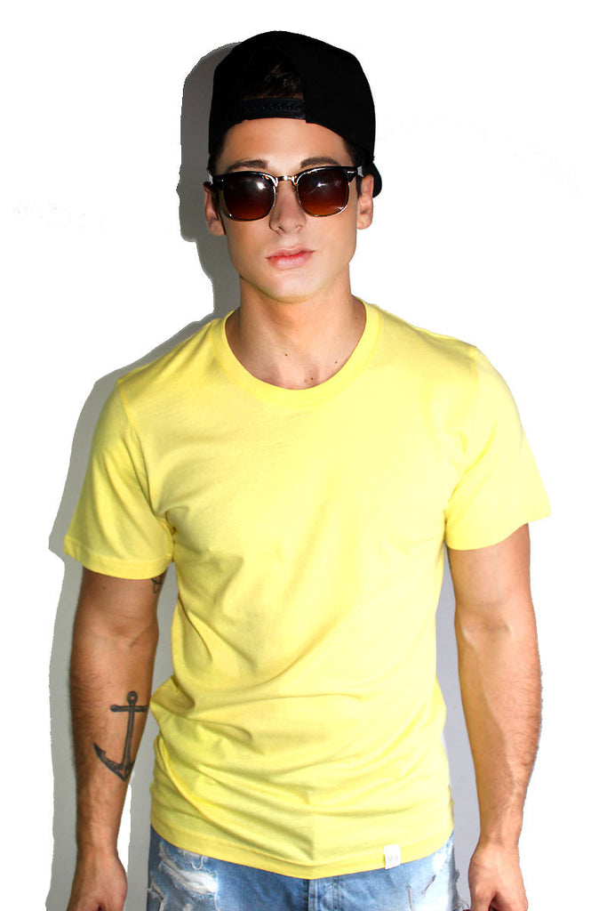 Core Crewneck Tee-Yellow