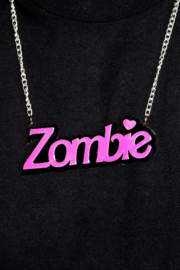 Zombie Necklace-Pink