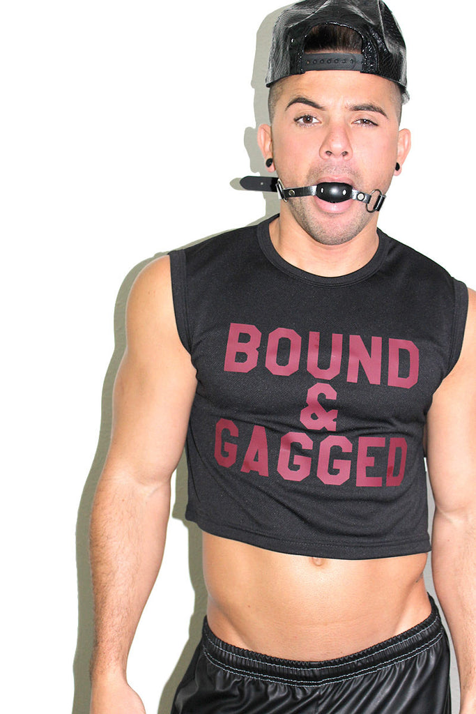 Bound And Gagged Crop Tank- Black