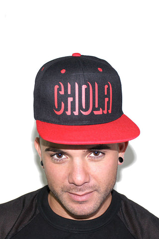 CHOLA Snap Back Hat-Red