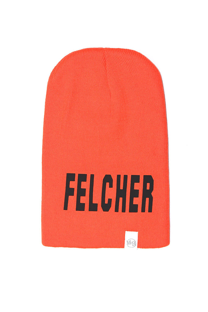Felcher Neon Beanie- Orange