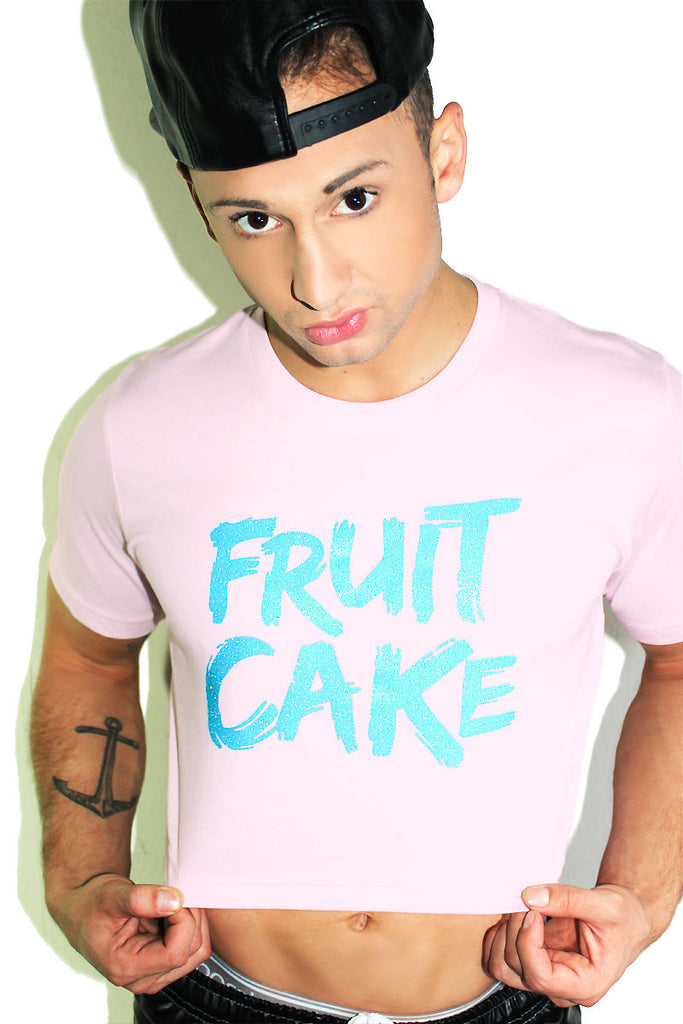 Fruit Cake Crop Tee-Pink