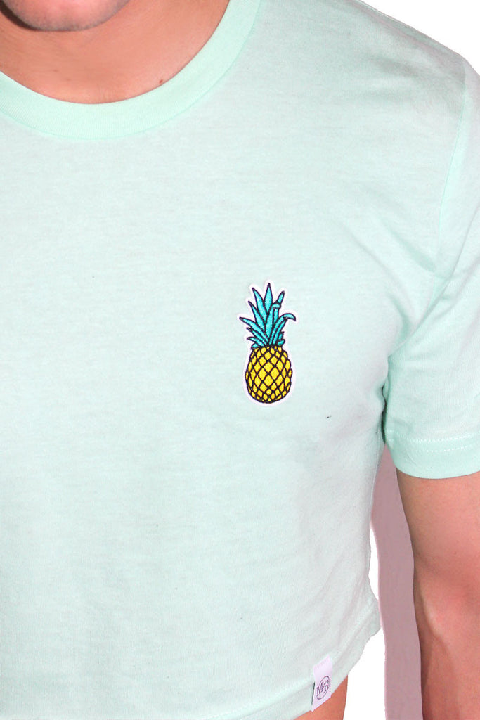 Pineapple Patch Crop Tee-Green