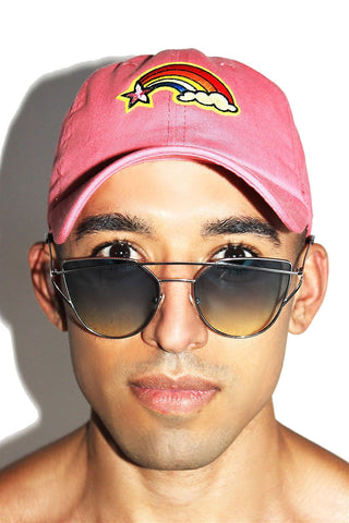 Shooting Star Dad Hat-Pink