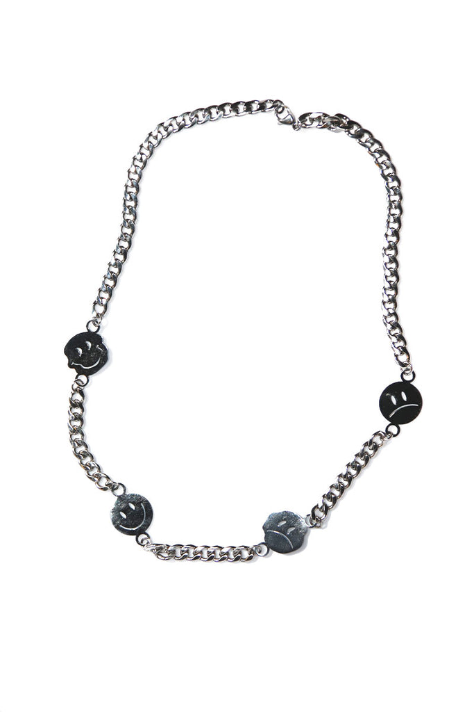 Trippin Smiles Necklace- Silver