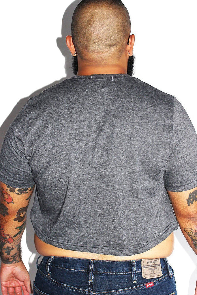 PLUS: Thick Crop Tee-Dark Charcoal