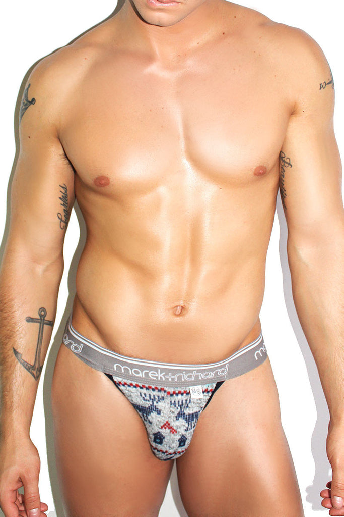 Holiday Cheer Sweater Jock- Grey