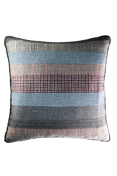 "Multi Stripe Gray 23"" x 23"" - Margo Petitti Pillows - scarf"