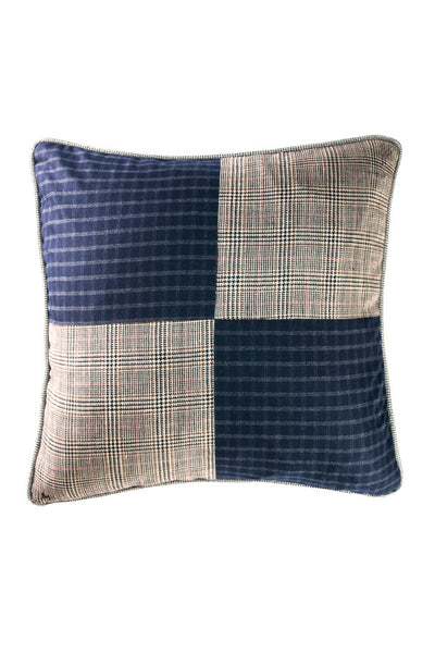 "Navy Quadrant 17"" x 17"" - Margo Petitti Pillows - scarf"
