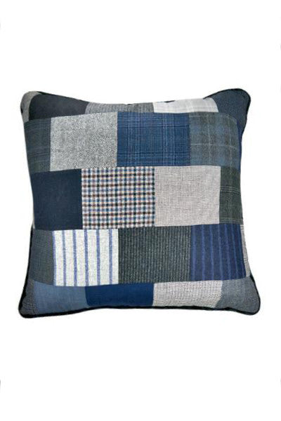 "Blue Pillow 23"" x 23"" - One of a Kind - Margo Petitti Pillows - scarf"