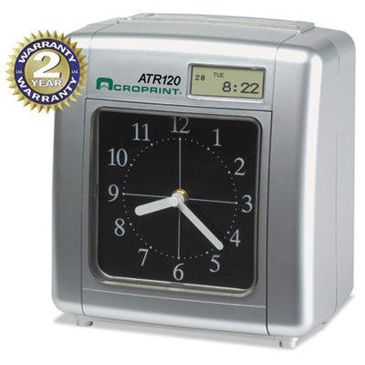 Acroprint® Model ATR120 Time Clock for Weekly/Biweekly Pay Periods