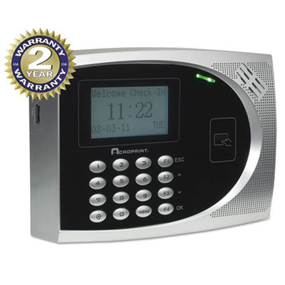 Acroprint® timeQplus Proximity Time & Attendance System with Web Option