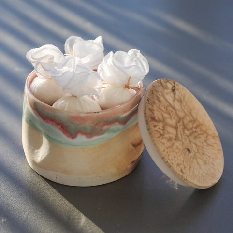 Ceramic Box with Jasmine of Arabia Bath Salts