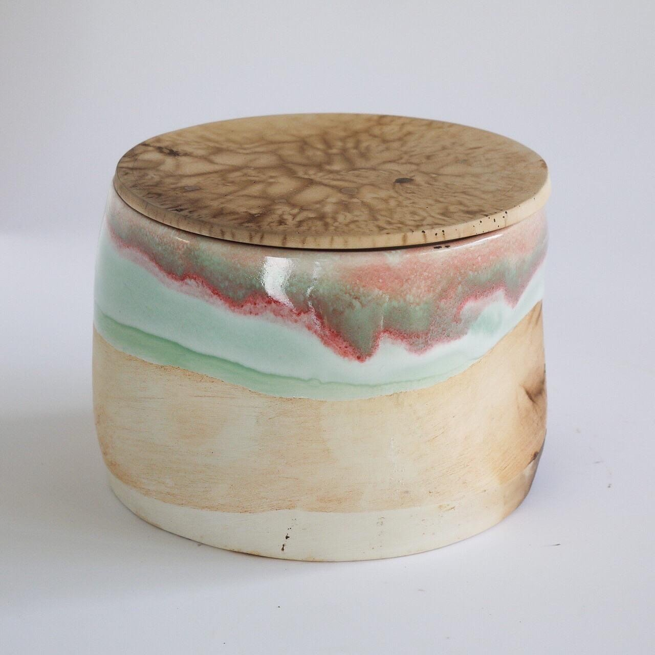 Ceramic Bath Salts Box
