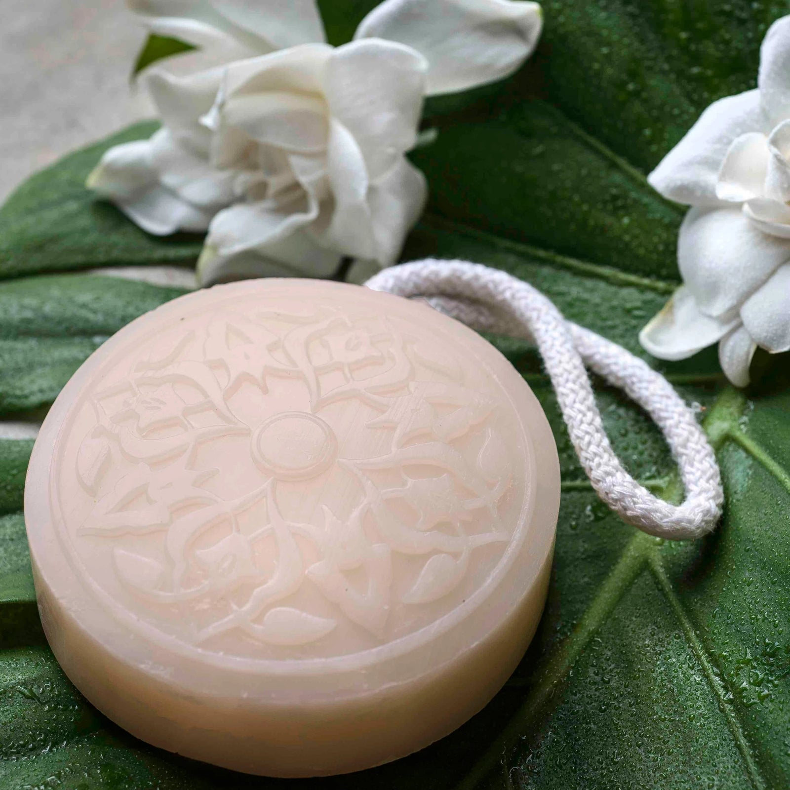 Oriental Gardenia Hammam Soap on a Rope