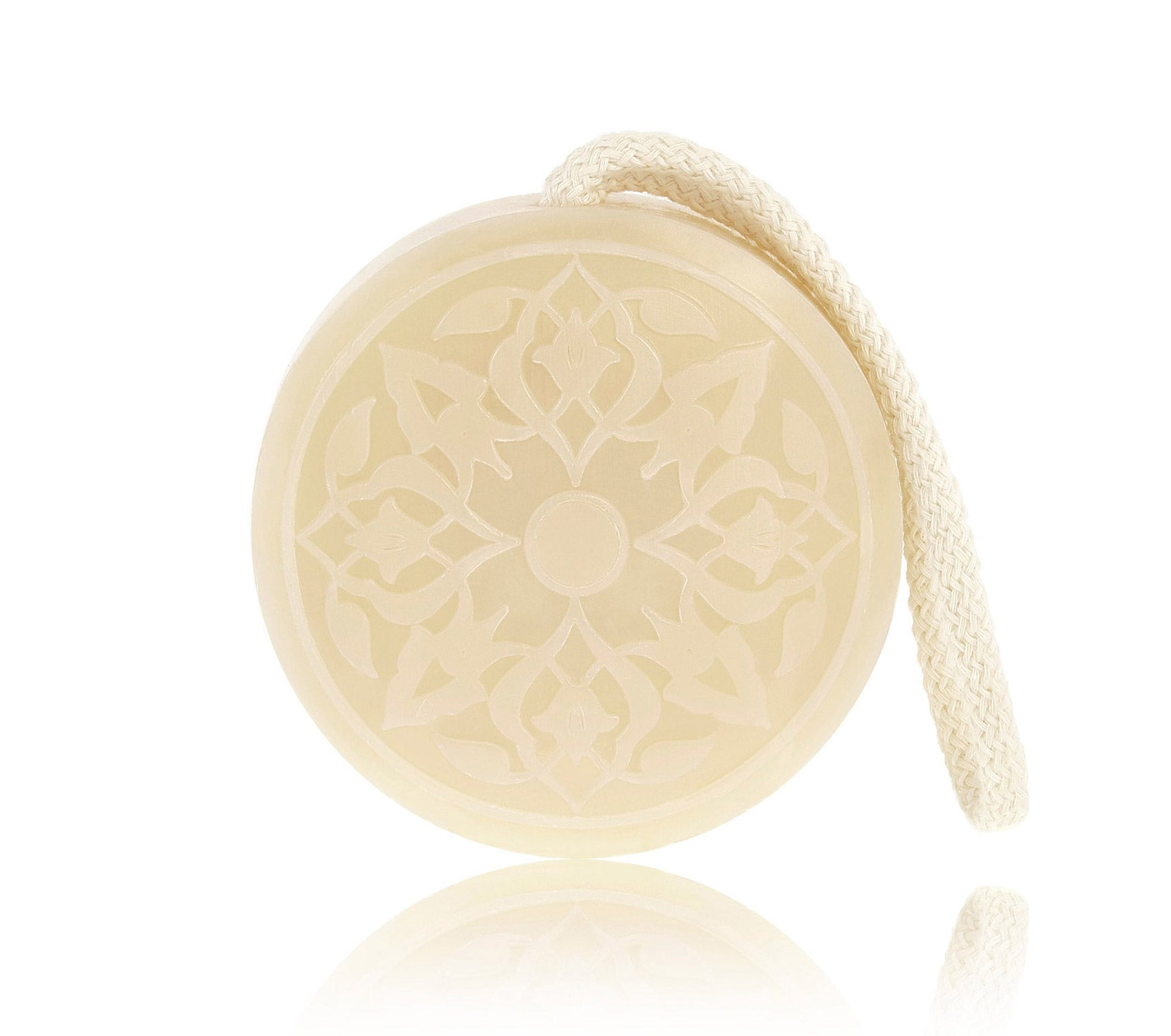 Rose of Damascus Hammam Soap on a rope Senteurs d'Orient