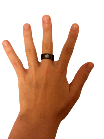 Black Tungsten Medical Ring - Lovin' It
