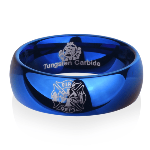 Blue Tungsten Firefighter's Ring - Friends of Irony LLC