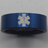 Blue Tungsten Medical Ring - Friends of Irony LLC