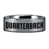 Silver Tungsten American Football Ring