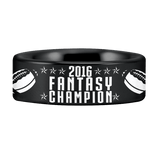 Tungsten Fantasy Football Championship Ring (8mm)