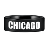 Tungsten Chicago Skyline Ring